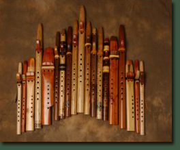 Picture of Wood Flutes.